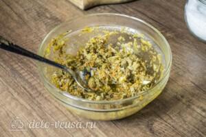Скумбрия-лодочка с овощами и соусом Песто: фото к шагу 2.