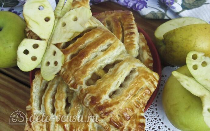 Слойки с яблоками за 30 минут: фото блюда приготовленного по данному рецепту