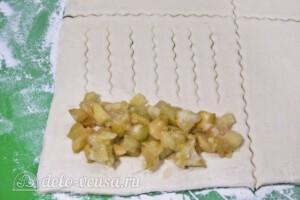 Слойки с яблоками за 30 минут: фото к шагу 8.