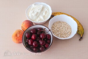 Овсяный смузи с вишней и фруктами: Ингредиенты