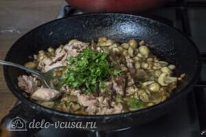 Спагетти с тунцом и грибами за 20 минут: фото к шагу 4.