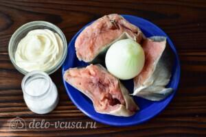 Горбуша в духовке под майонезом: Ингредиенты