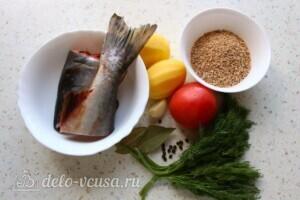 Наваристый рыбный суп с пшеничной крупой: Ингредиенты