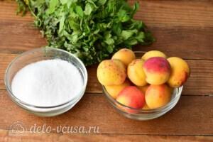 """Абрикосовое варенье """"Янтарное"""" с мятой: Ингредиенты"""