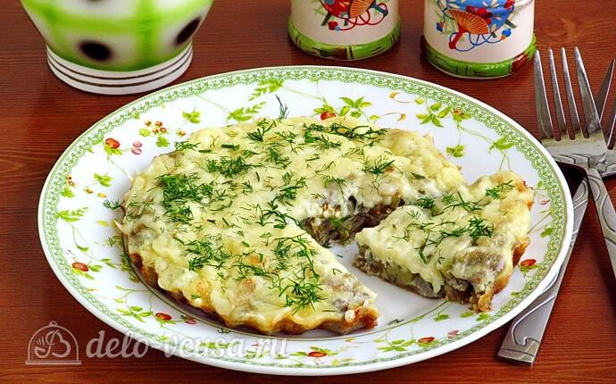 Омлет с баклажанами и сыром: фото блюда приготовленного по данному рецепту