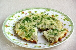 Омлет с баклажанами и сыром: фото к шагу 10.