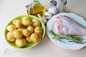 Голень индейки с картошкой в рукаве: Ингредиенты