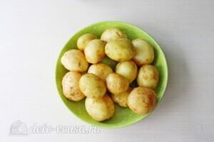 Голень индейки с картошкой в рукаве: фото к шагу 1.