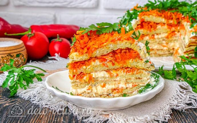 Кабачковый торт с морковью