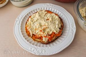 Кабачковый торт с морковью: фото к шагу 12.