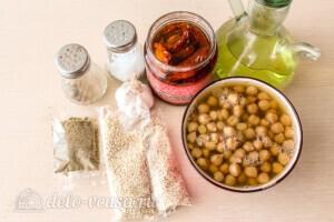 Хумус с вялеными томатами за 10 минут: Ингредиенты