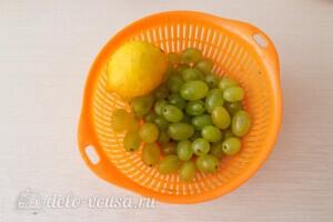 Компот из винограда с лимоном на зиму: фото к шагу 1.