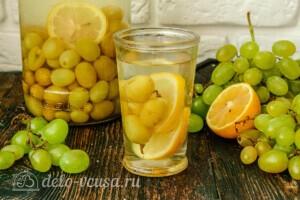 Компот из винограда с лимоном на зиму: фото к шагу 6.