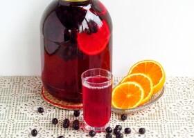 Рецепт компот из черноплодной рябины с апельсином