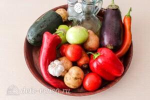 Летние овощи в духовке: Ингредиенты