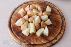 Летние овощи в духовке: фото к шагу 3.