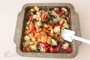 Летние овощи в духовке: фото к шагу 9.