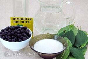 Ликер из черноплодной рябины с вишневыми листьями: Ингредиенты