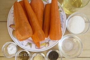 Морковь по-корейски за 4 часа: Ингредиенты