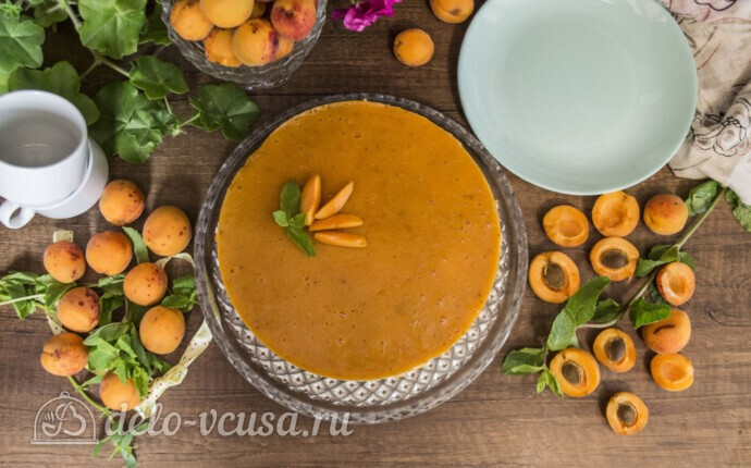 Муссовый торт с абрикосами