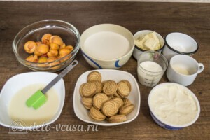 Муссовый торт с абрикосами: Ингредиенты
