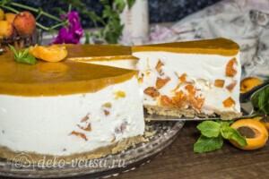 Муссовый торт с абрикосами: фото к шагу 15.