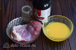 Свинина в медово-соевом соусе: Ингредиенты