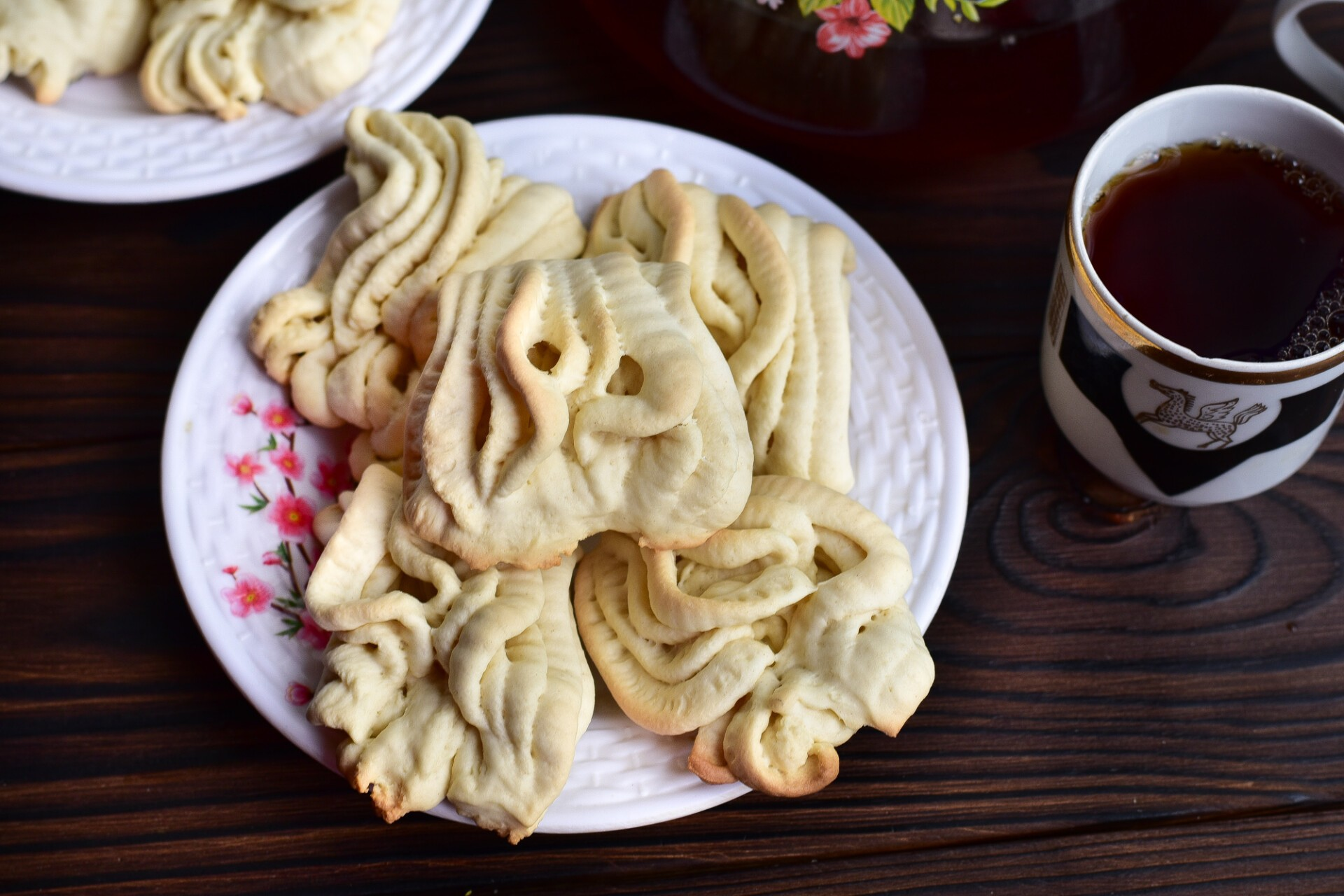 Печенье «Хризантемы» через мясорубку
