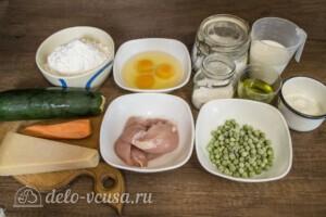 Заливной пирог с курицей и кабачками: Ингредиенты