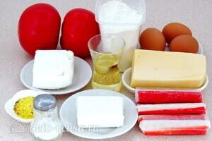 Творожная пицца с крабовыми палочками и фетой: Ингредиенты