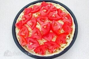 Творожная пицца с крабовыми палочками и фетой: фото к шагу 15.
