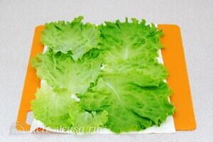 Рулет из лаваша с курицей и овощами: фото к шагу 11