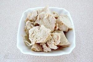 Рулет из лаваша с курицей и овощами: фото к шагу 2.