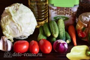 """Салат """"Дунайский"""" с капустой на зиму: Ингредиенты"""
