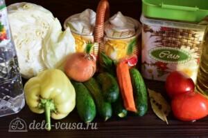 """Салат """"Охотничий"""" с капустой на зиму: Ингредиенты"""