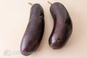 Салат из печёных баклажанов с сыром Фета: фото к шагу 1.
