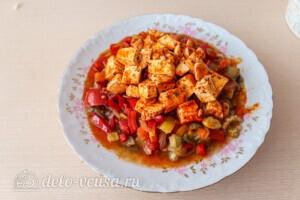 Салат из печёных баклажанов с сыром Фета: фото к шагу 13.