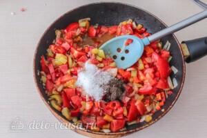 Салат из печёных баклажанов с сыром Фета: фото к шагу 5.