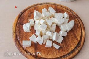 Салат из печёных баклажанов с сыром Фета: фото к шагу 6.