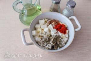 Салат из печёных баклажанов с сыром Фета: фото к шагу 7.