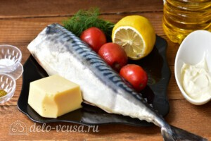 Скумбрия с помидорами и сыром в духовке: Ингредиенты
