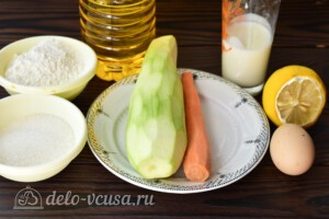 Сладкие кабачковые оладьи с морковью: Ингредиенты