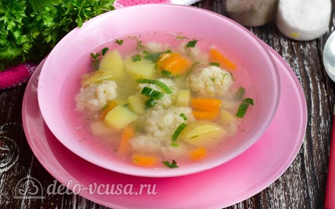 Суп с рыбными фрикадельками из минтая
