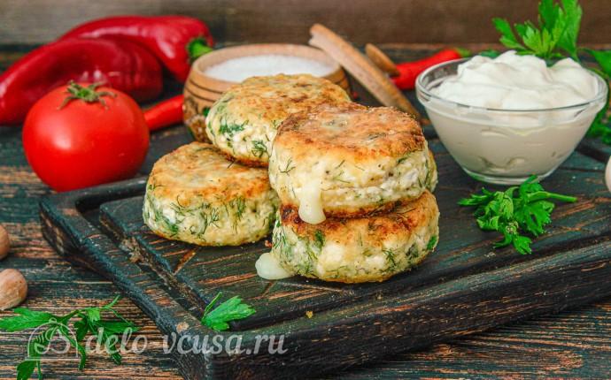 Сырники с сыром и зеленью