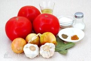 Томатно-луковый соус на зиму: Ингредиенты