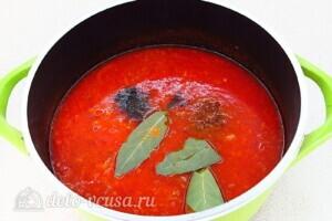 Томатно-луковый соус на зиму: фото к шагу 12.