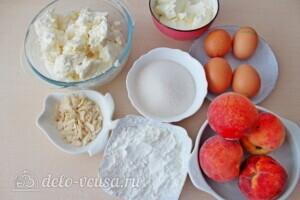 Творожная запеканка с персиками: Ингредиенты
