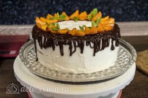 Творожный торт-суфле с абрикосами: фото к шагу 16