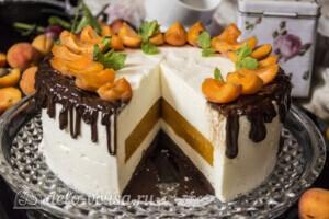 Творожный торт-суфле с абрикосами: фото к шагу 17.