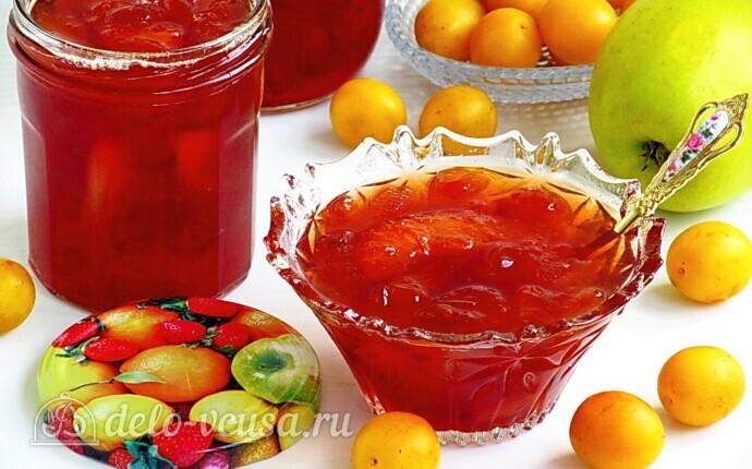 Варенье из жёлтой алычи с яблоками